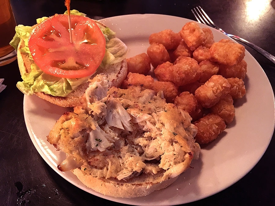 Swallow At The Hollow Crab Cake Sandwich