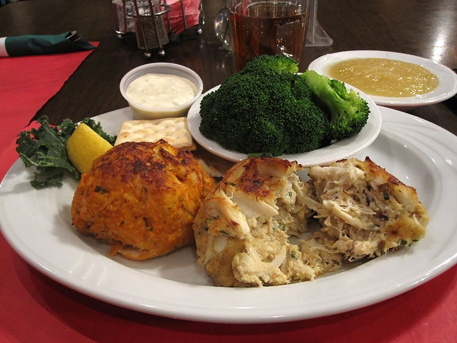 The Crackpot Restaurant's Traditional and Cruise Missile Crab Cakes