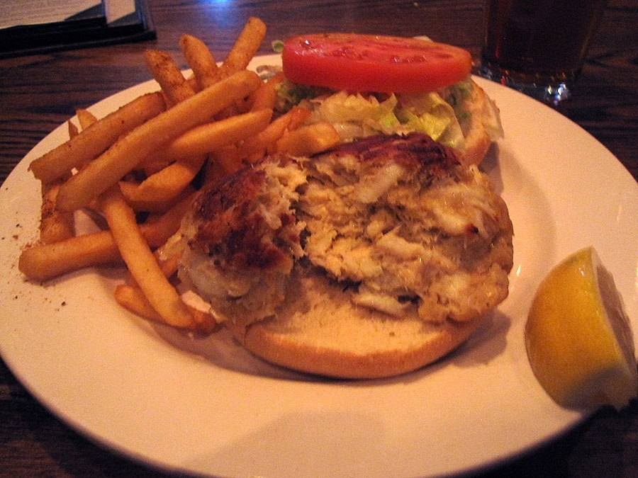 Lure's Crab Cake Sandwich