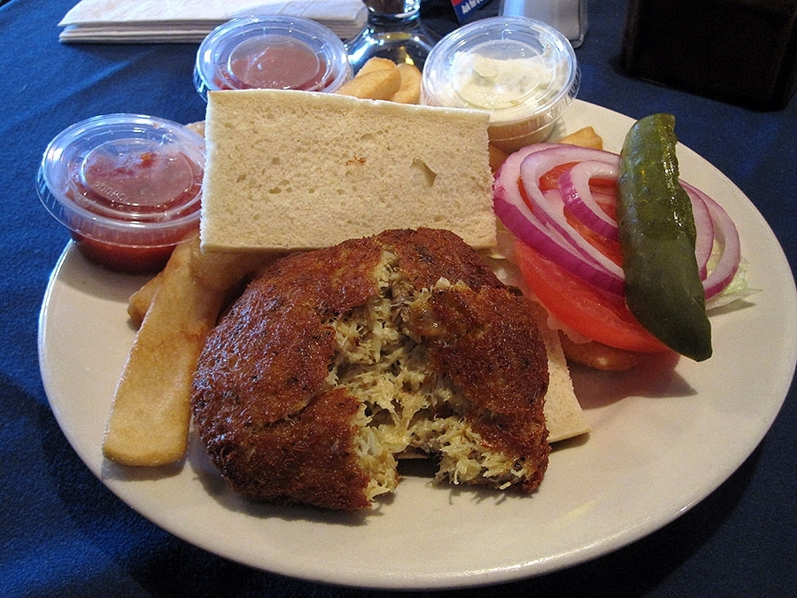 The Fish Market Crab Cake Sandwich