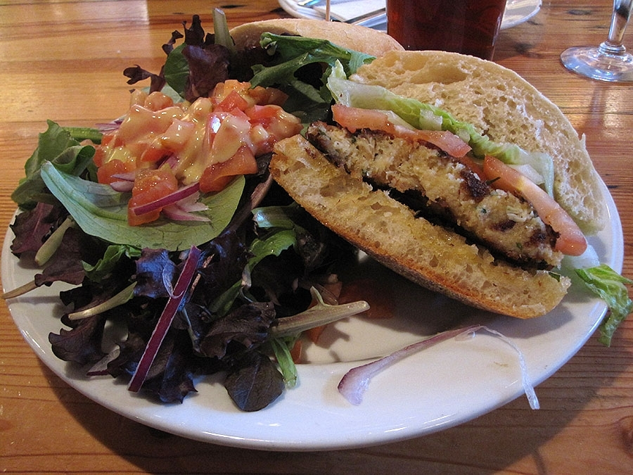 Joe Squared Crab Cake Sandwich